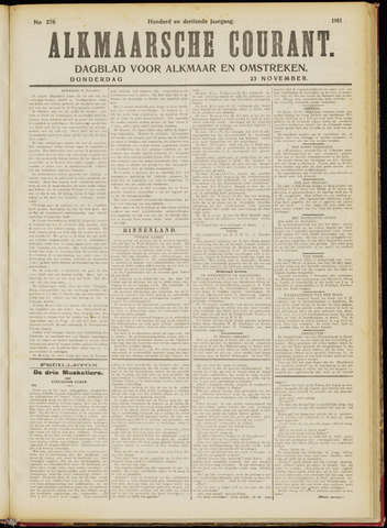 Alkmaarsche Courant 1911-11-23