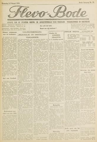 Flevo-bode: nieuwsblad voor Wieringen-Wieringermeer 1948-02-25