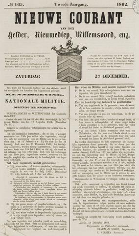Nieuwe Courant van Den Helder 1862-12-27