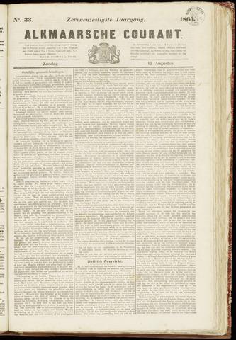 Alkmaarsche Courant 1865-08-13