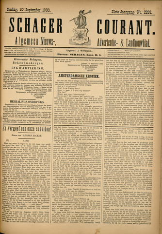 Schager Courant 1888-09-30