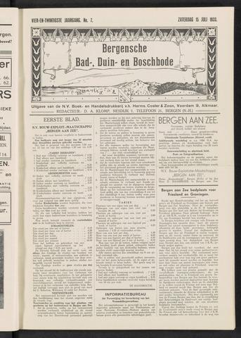 Bergensche bad-, duin- en boschbode 1933-07-15