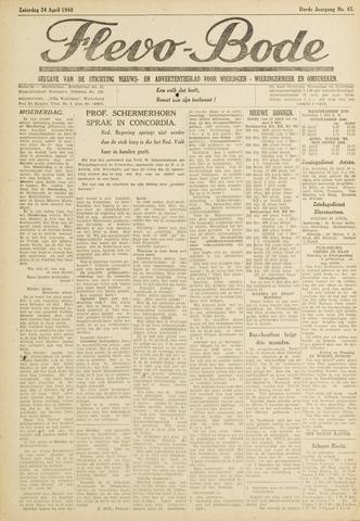 Flevo-bode: nieuwsblad voor Wieringen-Wieringermeer 1948-04-24