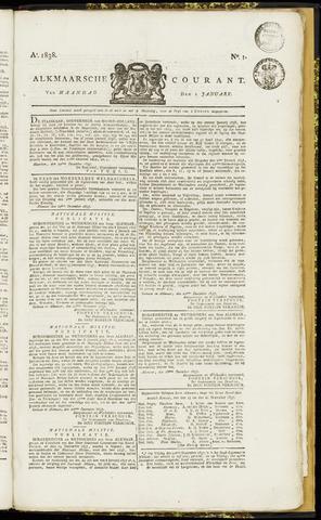 Alkmaarsche Courant 1838-01-01