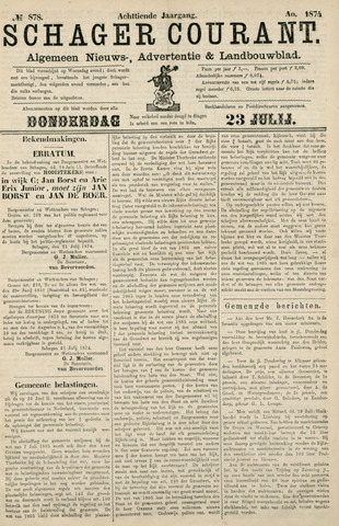 Schager Courant 1874-07-23