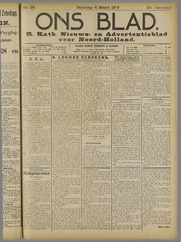 Ons Blad : katholiek nieuwsblad voor N-H 1916-03-04