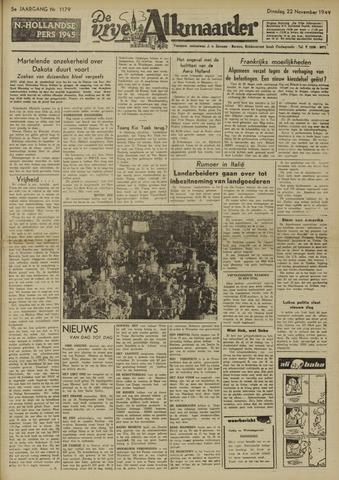 De Vrije Alkmaarder 1949-11-22