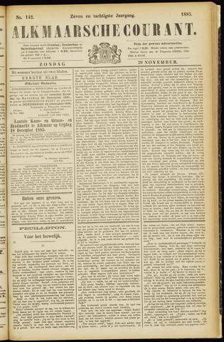 Alkmaarsche Courant 1885-11-29