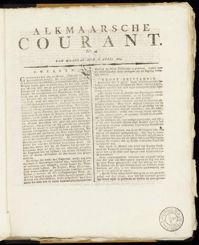 Alkmaarsche Courant 1814-04-18
