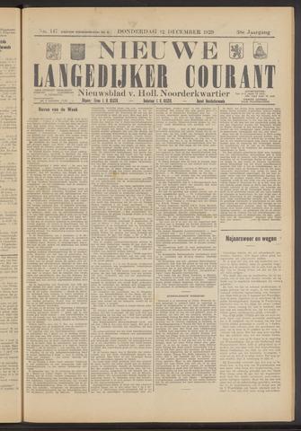 Nieuwe Langedijker Courant 1929-12-12