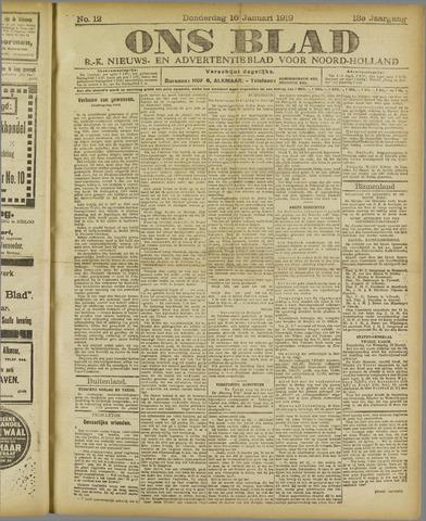 Ons Blad : katholiek nieuwsblad voor N-H 1919-01-16