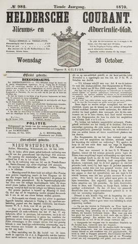 Heldersche Courant 1870-10-26
