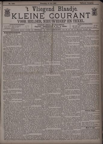 Vliegend blaadje : nieuws- en advertentiebode voor Den Helder 1887-07-13