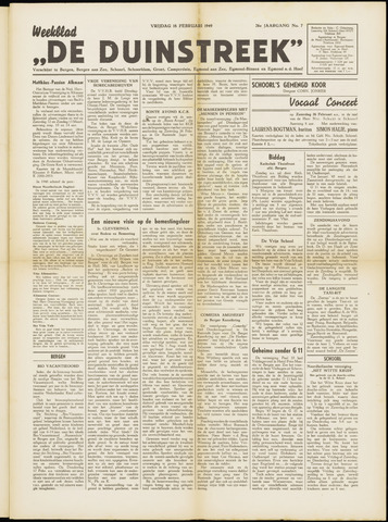 De Duinstreek 1949-02-18