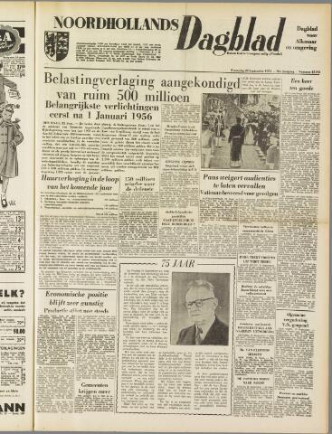 Noordhollands Dagblad : dagblad voor Alkmaar en omgeving 1954-09-22