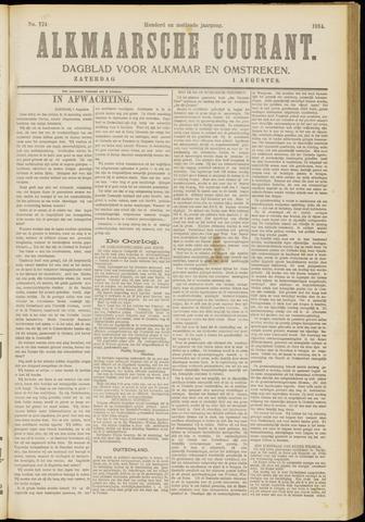 Alkmaarsche Courant 1914-08-01
