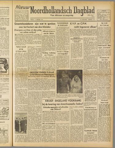 Nieuw Noordhollandsch Dagblad : voor Alkmaar en omgeving 1947-02-14