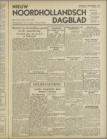 Nieuw Noordhollandsch Dagblad : voor Alkmaar en omgeving 1945-09-14