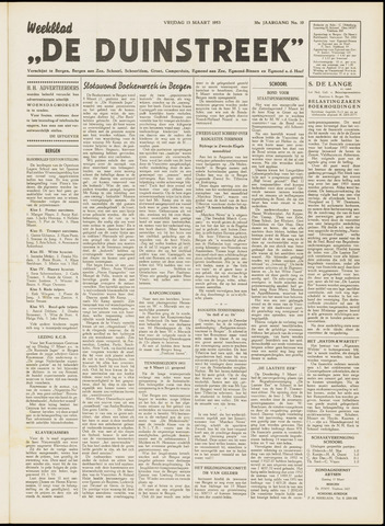 De Duinstreek 1953-03-13