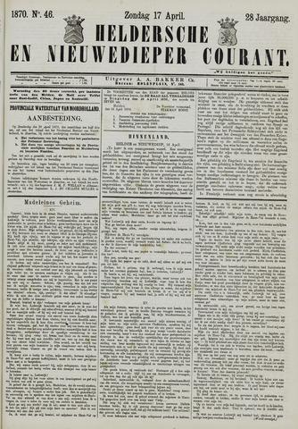 Heldersche en Nieuwedieper Courant 1870-04-17