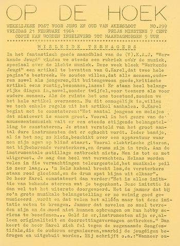 Op De Hoek, weekblad voor Akersloot 1964-02-21