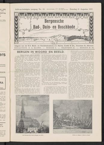 Bergensche bad-, duin- en boschbode 1937-08-21