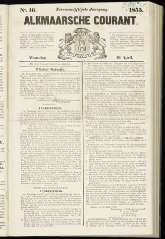 Alkmaarsche Courant 1855-04-16