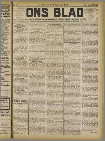 Ons Blad : katholiek nieuwsblad voor N-H 1916-08-03