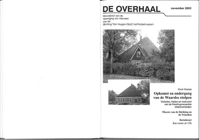 De Overhaal: historisch magazine Heerhugowaard 2003-11-01