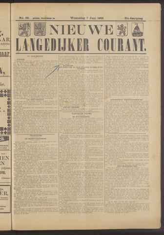 Nieuwe Langedijker Courant 1922-06-07