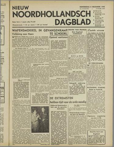 Nieuw Noordhollandsch Dagblad : voor Alkmaar en omgeving 1945-12-06