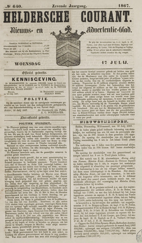 Heldersche Courant 1867-07-17