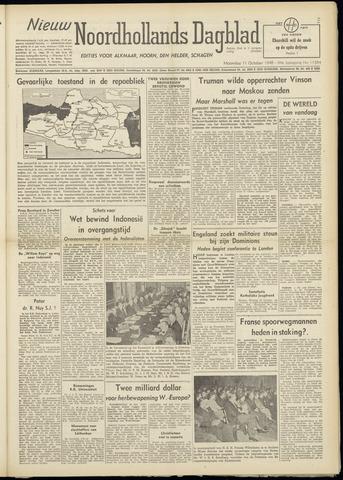 Nieuw Noordhollandsch Dagblad : voor Alkmaar en omgeving 1948-10-11