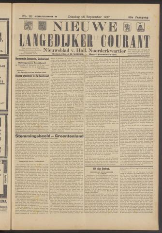 Nieuwe Langedijker Courant 1927-09-20