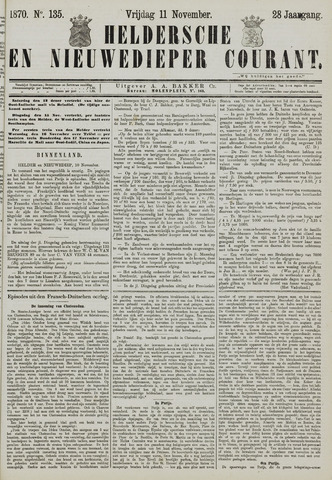 Heldersche en Nieuwedieper Courant 1870-11-11