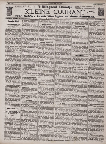 Vliegend blaadje : nieuws- en advertentiebode voor Den Helder 1912-07-27