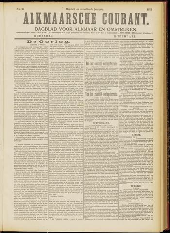 Alkmaarsche Courant 1915-02-10