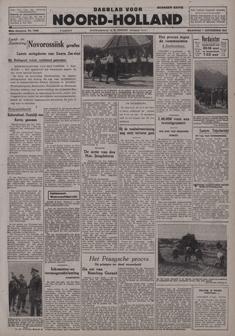Dagblad Noord-Holland, Schager editie 1942-09-07