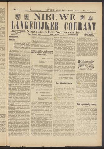 Nieuwe Langedijker Courant 1932-12-15
