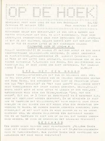 Op De Hoek, weekblad voor Akersloot 1960-10-22