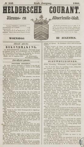 Heldersche Courant 1866-08-22