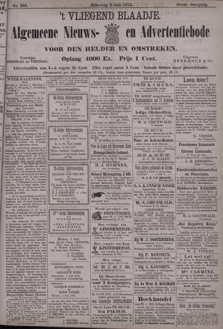Vliegend blaadje : nieuws- en advertentiebode voor Den Helder 1875-07-03