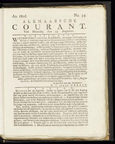 Alkmaarsche Courant 1806-08-25