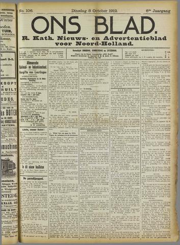 Ons Blad : katholiek nieuwsblad voor N-H 1912-10-08