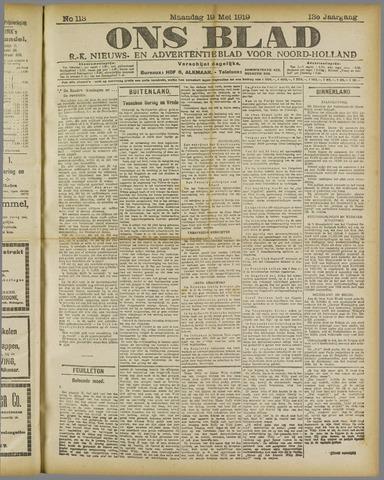 Ons Blad : katholiek nieuwsblad voor N-H 1919-05-19