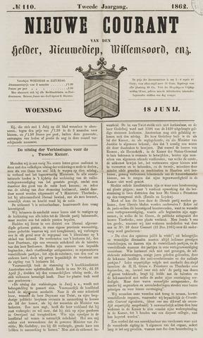 Nieuwe Courant van Den Helder 1862-06-18