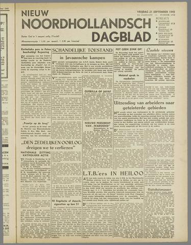 Nieuw Noordhollandsch Dagblad : voor Alkmaar en omgeving 1945-09-21