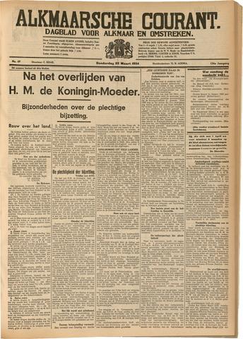 Alkmaarsche Courant 1934-03-22