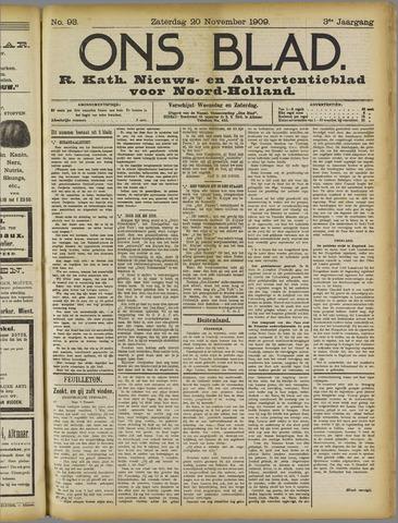 Ons Blad : katholiek nieuwsblad voor N-H 1909-11-20