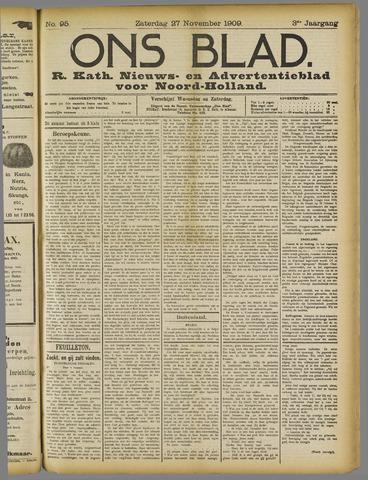 Ons Blad : katholiek nieuwsblad voor N-H 1909-11-27